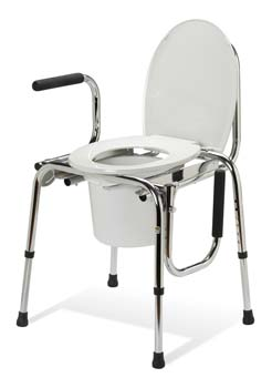 Non-Padded Drop-Arm Commode