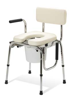 Padded Drop Arm Commode