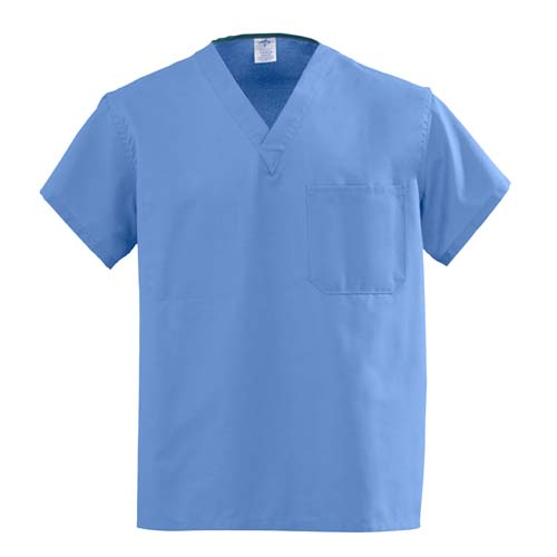 Medline AngelStat Unisex Two-Pocket Reversible Scrub Top -Style 630 Size XS-5XL