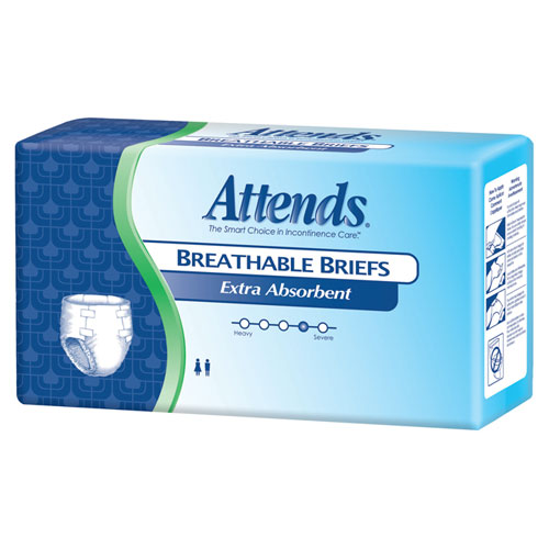 Attends Extra-Absorbent Breathable Briefs