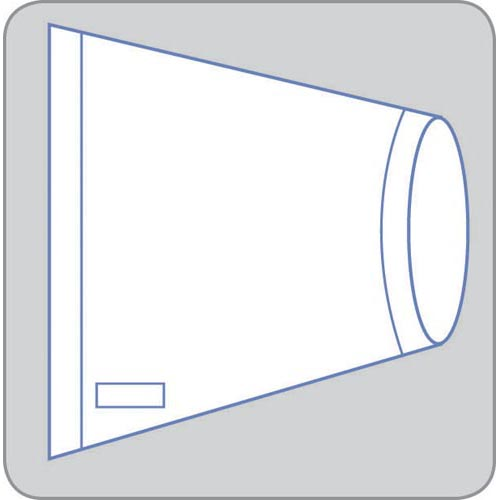 """Rectangular Banded Bags for Surgical Equipment: 36"""" x 28"""", Case of 25 (DYNJE63628R)"""