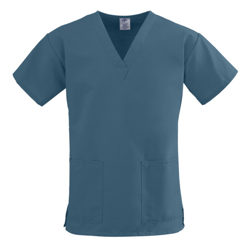 ComfortEase Two-Pocket Scrub Top