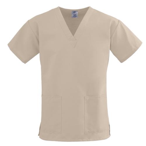 Medline ComfortEase Ladies Scrub Tops, Khaki