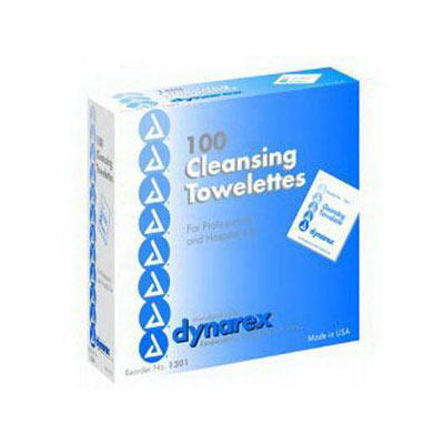 Dynarex Cleansing Towelette, 100 Per Box