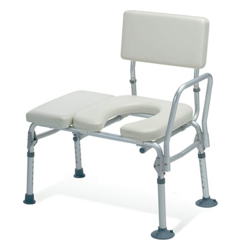 Guardian Padded Transfer Bench With Commode Opening Healthcare Supply Pros