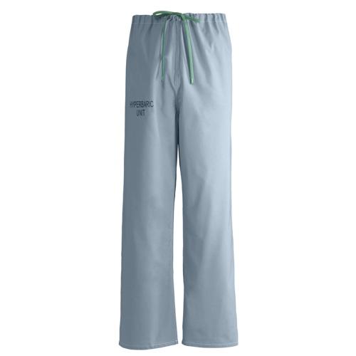 Medline 100% Cotton Hyperbaric Scrub Pants, Misty