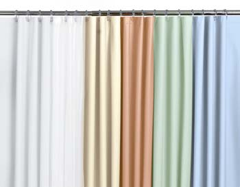 Medline Rain Embossed Vinyl Shower Curtain Blue Shower