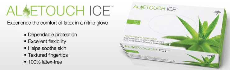 Experience the comfort of latex in a nitrile glove